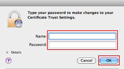 You may be prompted to enter your machines Administrative password. - Then Click OK.