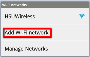 Tap Add Wi-Fi network