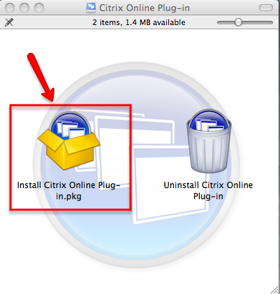 Install Citrix Online Plug-in