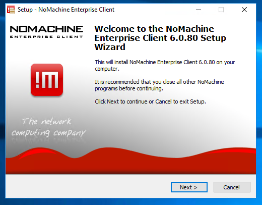 Install the NoMachine Enterprise Client: