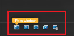 Select fit to window button
